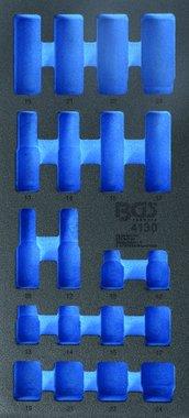 1/3 Bandeja de herramientas (408x189x32 mm), vacía, para 20 piezas Conjunto de enchufes de impacto 10-24 mm