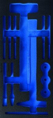 1/3 Bandeja de herramientas (408x189x32 mm), vacia, para martillo de 14 piezas con cabezales intercambiables y punzonadora y conjunto de cincel
