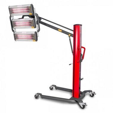 Secador de pintura infrarroja con 3 lámparas