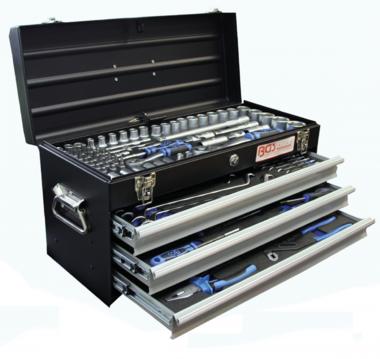 Caja de herramientas de metal 3 cajones con 143 herramientas