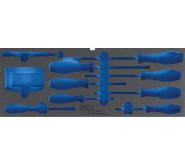 Bandeja de herramientas de espuma para el art. 3312, vac o: para destornilladores, conjuntos de bits y elevadores magneticos
