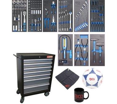 Carrito de taller 7 cajones con 120 herramientas
