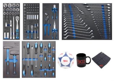 Carrito de taller 7 cajones con 129 herramientas