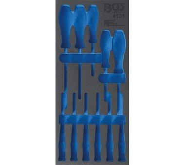 Bandeja para taller 1/3, vac a: Juego de destornilladores  11 piezas.