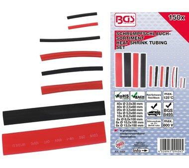 Tubo reductor de surtido   Rojo / Negro   150 piezas.