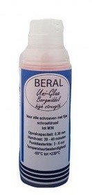 Beral Uni-Glue agente de bloqueo rojo de alta resistencia 15ml