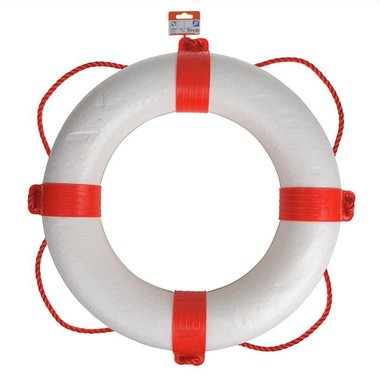 Anillo salvavidas 550mm, blanco - rojo
