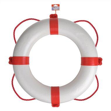 Anillo salvavidas 600mm, blanco - rojo