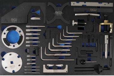 Tool Tray 3/3: Juego de herramientas de sincronización del motor para Ford, VW, Seat, Mazda, Volvo