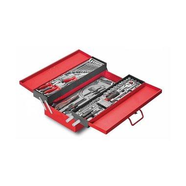 Cofre de herramientas de 3 niveles con herramientas de 76 piezas