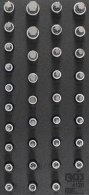 Tool Tray 1/3: Bit Socket Set hexágono interno, Torx, XZN RIBE 36 piezas.