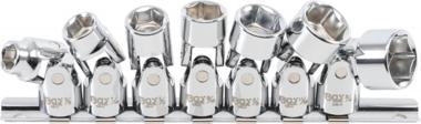 Juego de llaves de tubo de union Unidad de 10 mm (3/8 pulg.) 3/8 pulg. - Pulgadas de 3/4 pulg. 7 unidades.
