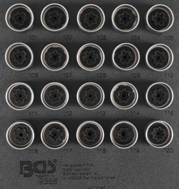 Juego de conectores de cerradura de borde para Opel, Vauxhall (Version A) 20 piezas