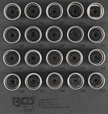 Juego de dados de cerradura de borde para Opel, Vauxhall (Version B) 20 piezas