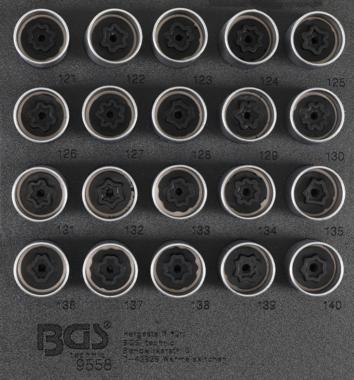 Juego de dados de cerradura de borde para Opel, Vauxhall (Version C) 20 piezas