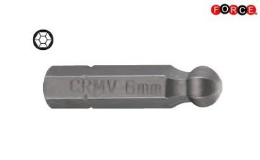 Puntas de cabeza redonda Inbus 1/4 -25mmL 2,5mm