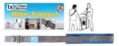 Correa de transporte para muebles ajustable 100 kg