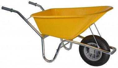 Carro de obras Basic PE 100 L amarillo DOOS