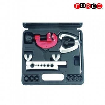 Cortador de tubos y kit de herramientas de doble abocardado (metrico)