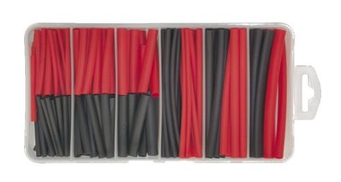 Encogimiento de calor negro / rojo