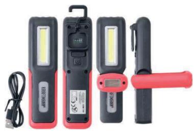 COB-LED Lampara de mano de trabajo