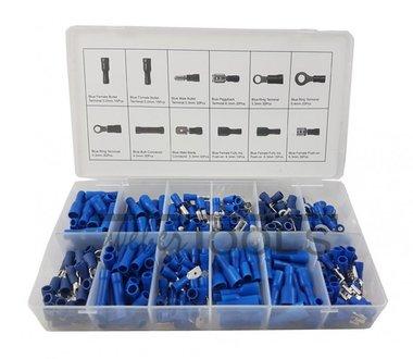 Conectores de cable azul 280 piezas