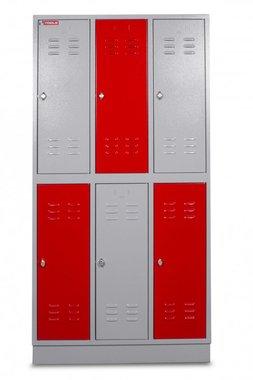 Locker metal con 6 compartimentos