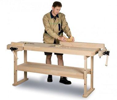 Banco de trabajo de madera 1340x500 mm