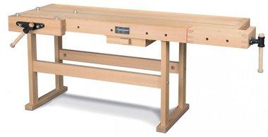 Banco de trabajo de madera profesional - 2120x790 mm