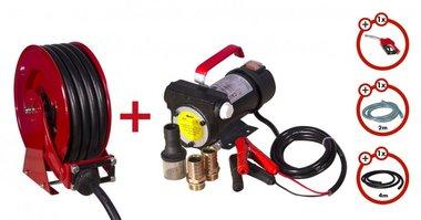 Bomba diesel 24V + bobina enrollable + juego de bomba
