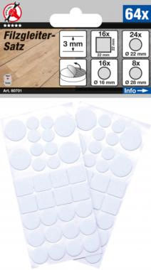 Juego de fieltros blancos 64 piezas