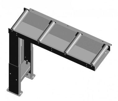 Transportador de rodillos de alimentación / descarga 1000 x 290 mm.
