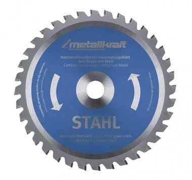 Hojas de sierra circular TCT para acero inoxidable, dientes-60