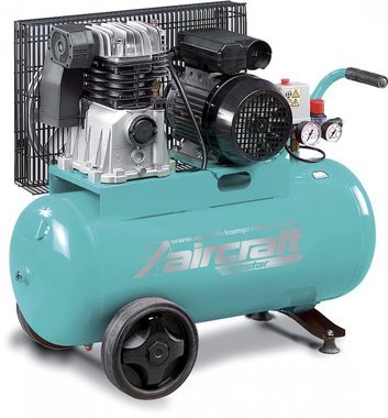 Compresor accionado por correa 2 cil. 10 bar - 50 litros