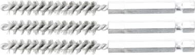 Cepillo de acero 8 mm 6,3 mm (1/4) 3 piezas