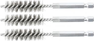 Cepillo de acero 13 mm 6,3 mm (1/4) 3 piezas