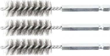 Cepillo de acero 15 mm 6,3 mm (1/4) 3 piezas