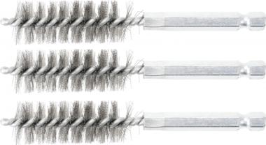 Cepillo de acero 16 mm 6,3 mm (1/4) 3 piezas