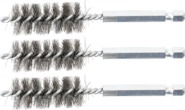 Cepillo de acero 17 mm 6,3 mm (1/4) 3 piezas