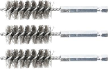 Cepillo de acero 18 mm 6,3 mm (1/4) 3 piezas