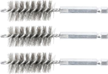 Cepillo de acero 19 mm 6,3 mm (1/4) 3 piezas