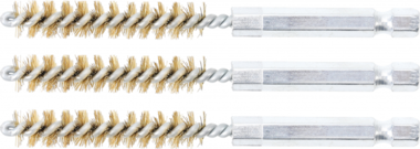 Cepillo de laton 9 mm 6,3 mm (1/4) 3 piezas
