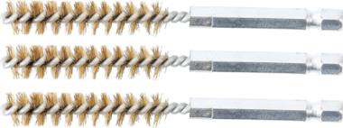 Cepillo de laton 10 mm 6,3 mm (1/4) 3 piezas