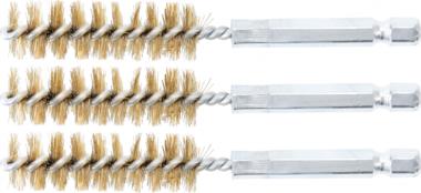 Cepillo de laton 14 mm 6,3 mm (1/4) 3 piezas