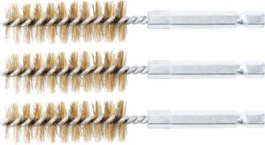 Cepillo de laton 16 mm 6,3 mm (1/4) 3 piezas