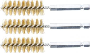 Cepillo de laton 17 mm 6,3 mm (1/4) 3 piezas