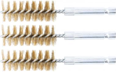 Cepillo de laton 18 mm 6,3 mm (1/4) 3 piezas