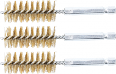 Cepillo de laton 19 mm 6,3 mm (1/4) 3 piezas