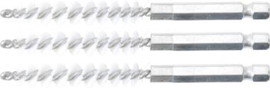 Cepillo de nylon 8 mm 6,3 mm (1/4) 3 piezas