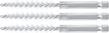 Cepillo de nylon 9 mm 6,3 mm (1/4) 3 piezas